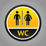 Restroom symbols