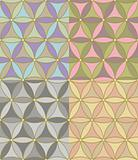 vector seamless pastel geometric pattern of hexagons
