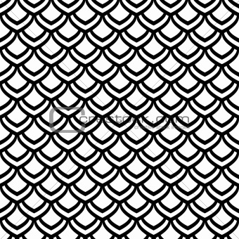 "Seamless pattern. ""Fish scale"" motif."