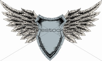 classic shield with wing