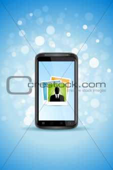 Business Background with Modern Smart phone