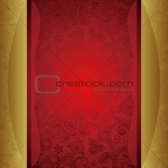 Abstract Gold and Red Background