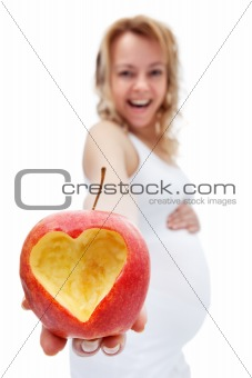Healthy eating during pregnancy concept
