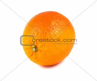 Single blood red orange fruit