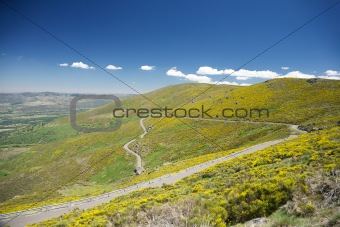 narrow rural roadway at Gredos
