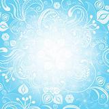 Gentle blue easter floral frame