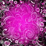 Violet vivid  floral frame