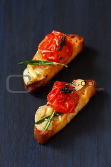 Bruschetta. 