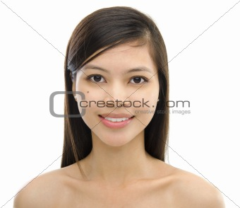 Mixed race Asian woman
