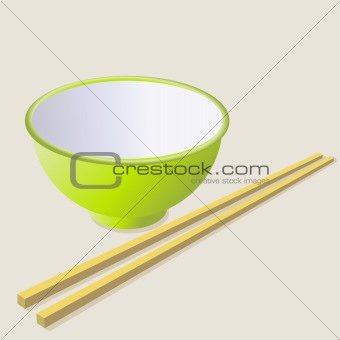 Ceramic mug with wooden sticks.