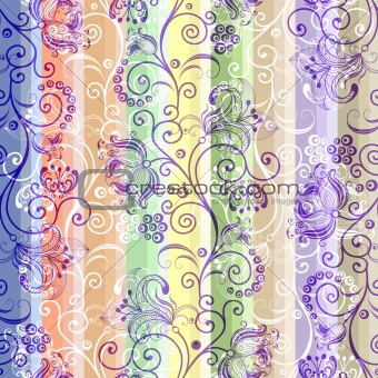 Seamless striped colorful pattern