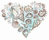 Heart of shells.