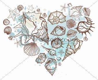Heart of shells.