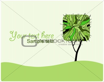 Stylized green tree