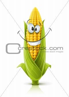 smiling corncob