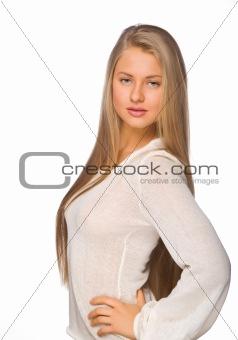girl in a white