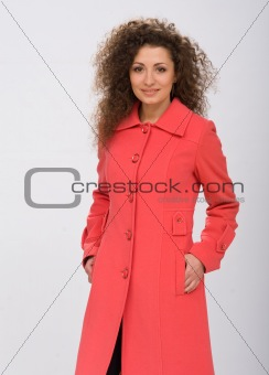 girl in a coat
