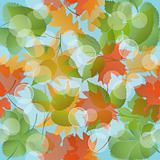 Seamless floral pattern with leaves. EPS10 vector illustration.