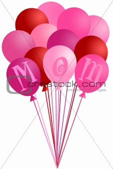 Mothers Day Mom Pink Balloons