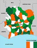 cote d&#39;ivoire map