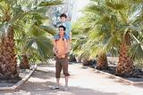 Boy on fathers shoulders