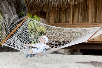 adorable toddler in a hammock