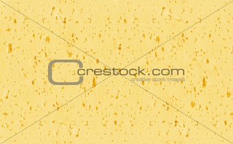 Background of yellow Swiss cheese with holes