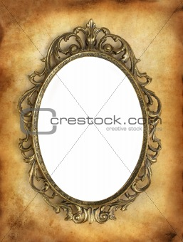 antique frame with a blank white area for your image