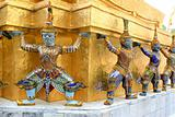 The elements of Grand Palace in Bangkok Thailand