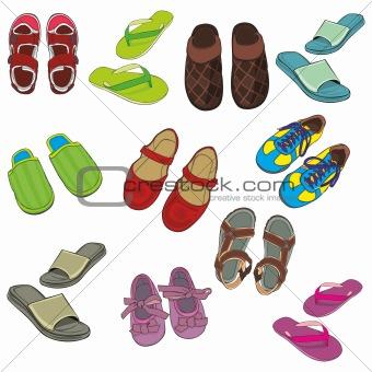 isolated footwear