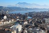 Winter cityscape of Lucerne Switzerland