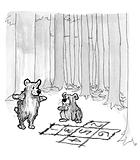 Bear hopscotch