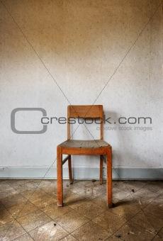 Chair against wall