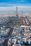 Eiffel Tower and panorama of Paris