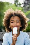 Boy with ice lolly
