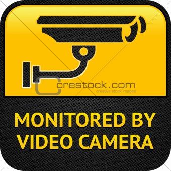 CCTV symbol, surveillance sign