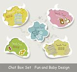 Vector Idea Bulbs. Baby Chat Bubbles