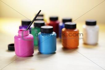 Paints of various colors