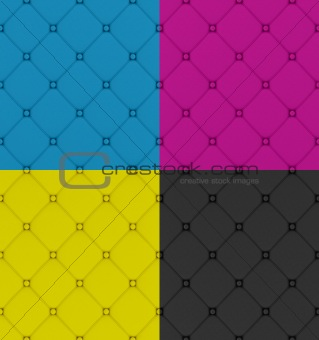 four  buttoned leather pattern