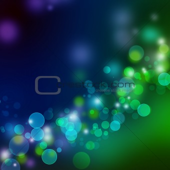 Blue - green lights background