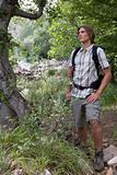 Young male hiker