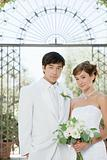Portrait of bride and bridegroom