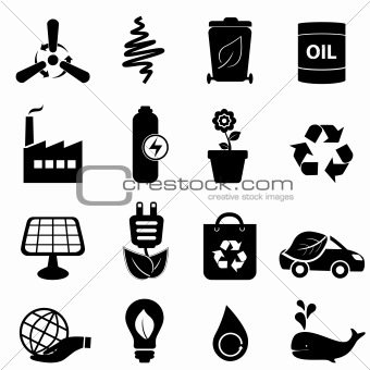 Clean energy and environment icons