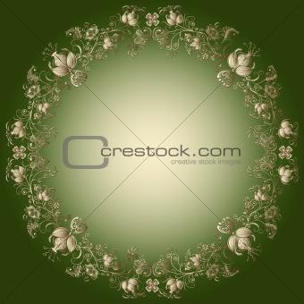 Green-gold easter frame