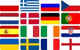 National team flags European football championship 2012