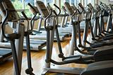 Treadmills in a row