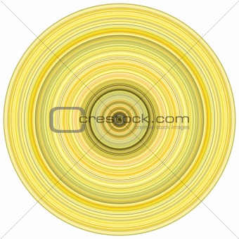 abstract background 3d render concentric pipes in multiple yello