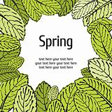 Spring leaf floral card