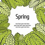 Spring leaf floral card