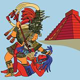 vector victory and defeat of the Mayan Warriors